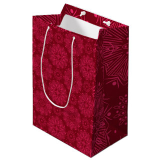 Red Christmas pattern Medium Gift Bag