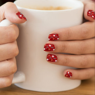 Red Christmas pattern Minx Nail Art