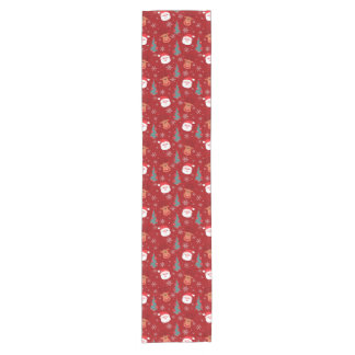 Red Christmas pattern Short Table Runner