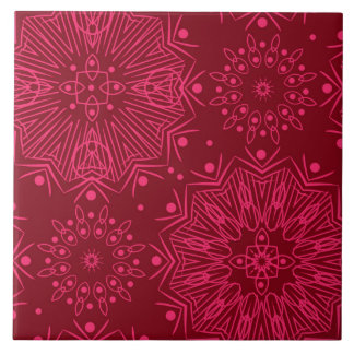 Red Christmas pattern Tile