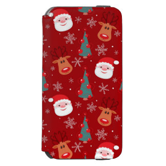 Red Christmas pattern Incipio Watson™ iPhone 6 Wallet Case
