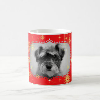 Red Christmas Photo Frame Gifts Basic White Mug