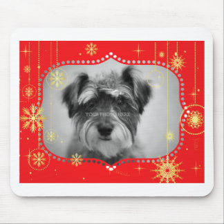 Red Christmas Photo Frame Gifts Mouse Pad