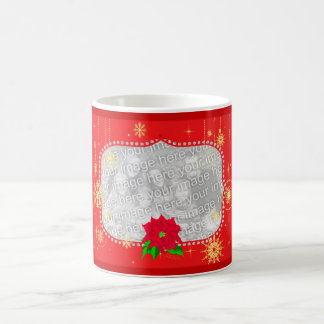 Red Christmas Photo Frame Gifts Classic White Coffee Mug