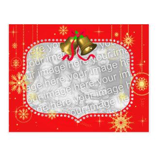 Red Christmas Photo Frame Gifts Postcard