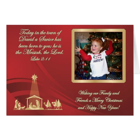 Red Christmas Photo Greeting Card