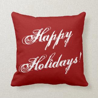 Red Christmas pillow   Holiday print sofa cushions