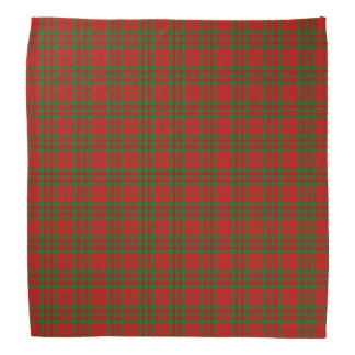 Red Christmas Plaid Bandana