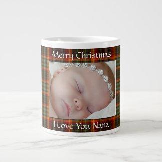 Red Christmas Plaid Photo Mug