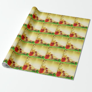 Red Christmas Presents Wrapping Paper