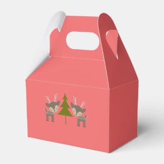 Red Christmas Reindeer Gift box