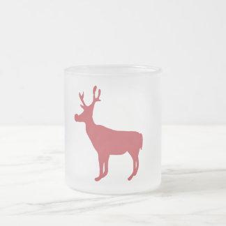 Red Christmas Reindeer Mug