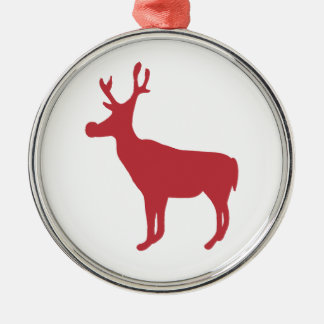 Red Christmas Reindeer Ornament