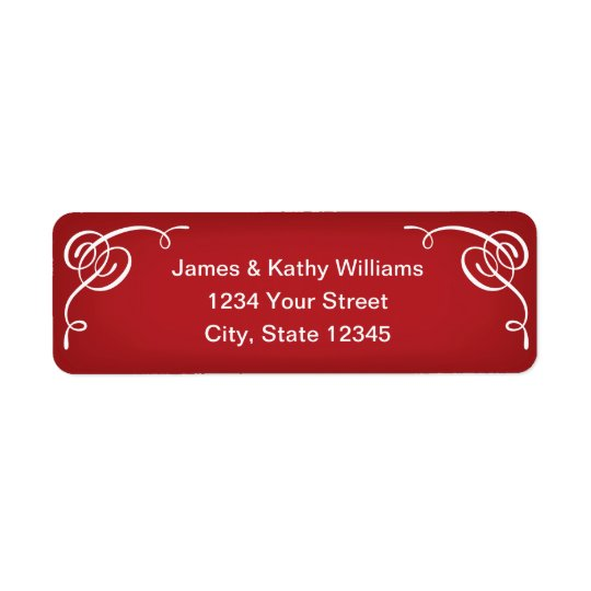 Red Christmas Return Address Label Stickers