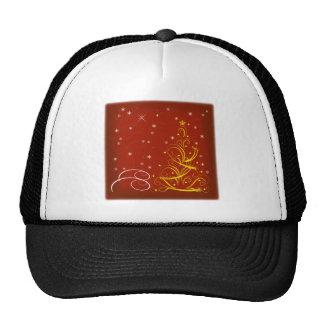 Red Christmas scene Cap