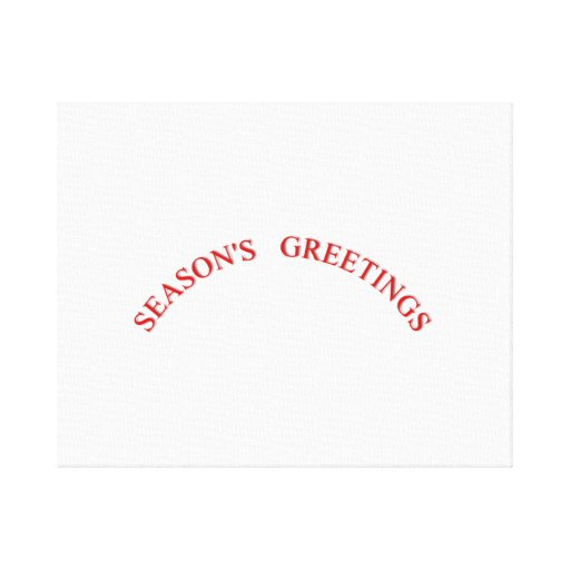 Red Christmas Seasons Greetings Stretched Canvas Prints