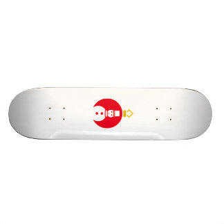 Red Christmas Snowman Ornament Skate Boards
