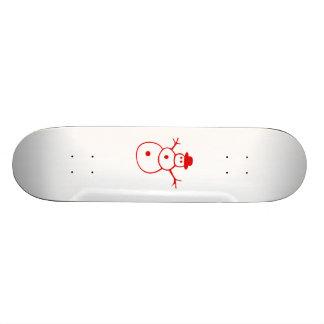 Red Christmas Snowman Skateboards
