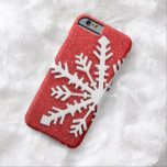 Red Christmas Sparkles Barely There iPhone 6 Case