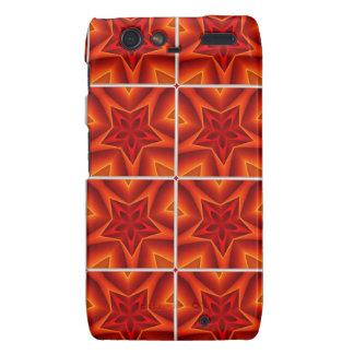Red Christmas Star Pattern Motorola Droid RAZR Case