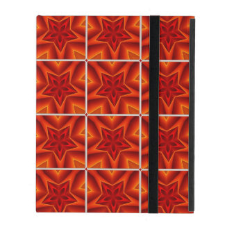 Red Christmas Star Pattern iPad Cases