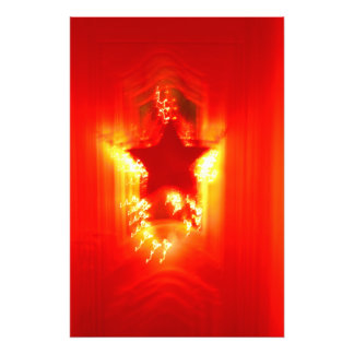 Red Christmas star Photographic Print