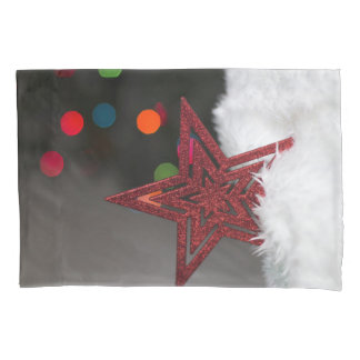 Red Christmas star Pillowcase