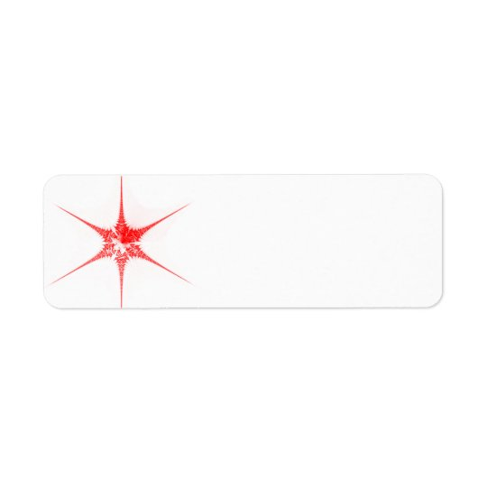 Red Christmas star Return Address Label
