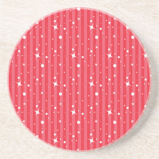 Red Christmas Stars Coaster