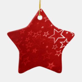 Red Christmas stars design Ceramic Star Decoration