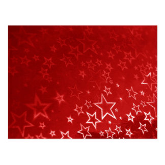 Red Christmas stars design Postcards