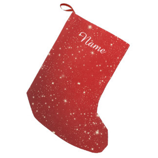 Red Christmas Stars Holiday Glitter
