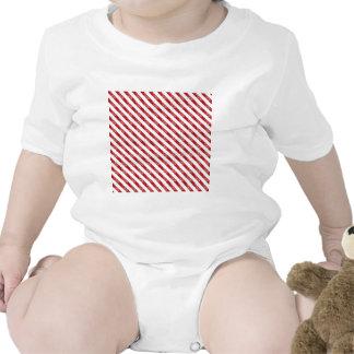 Red Christmas Stripes Tee Shirts