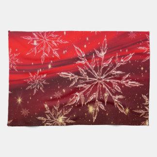 Red christmas tea towel