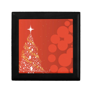 Red Christmas Tree Background Gift Box