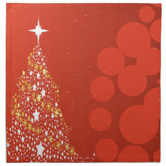 Red Christmas Tree Background Napkin