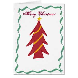 Red Christmas Tree card