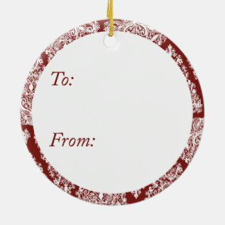 Red Christmas Tree Circle Ornament