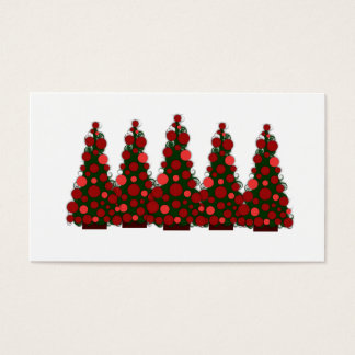 Red Christmas Tree Gift Tag