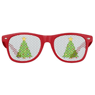 Red Christmas Tree Lens Sunglasses/ Shades