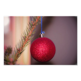 Red Christmas tree ornament Photograph