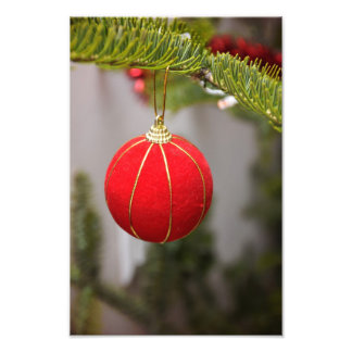 Red Christmas tree ornament Photo Art