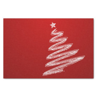Red Christmas Tree Tissue Paper