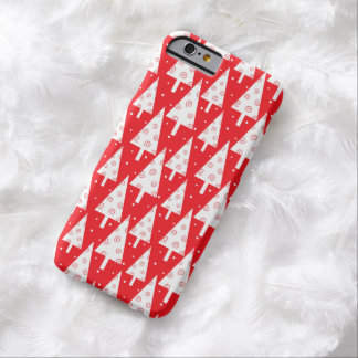 Red Christmas Trees Pattern Barely There iPhone 6 Case