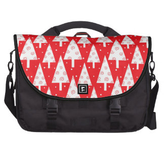Red Christmas Trees Pattern Bag For Laptop