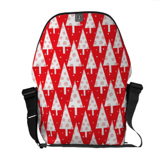 Red Christmas Trees Pattern Commuter Bag