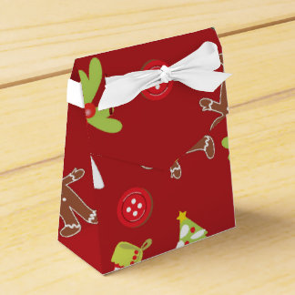 Red Christmas Wedding Favour Boxes