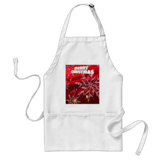 Red christmas white snow standard apron