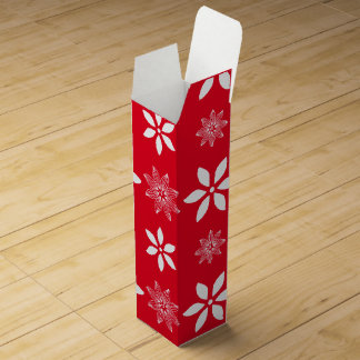 Red Christmas wine box