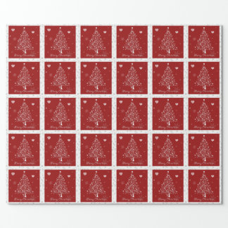 red christmas wrapping paper